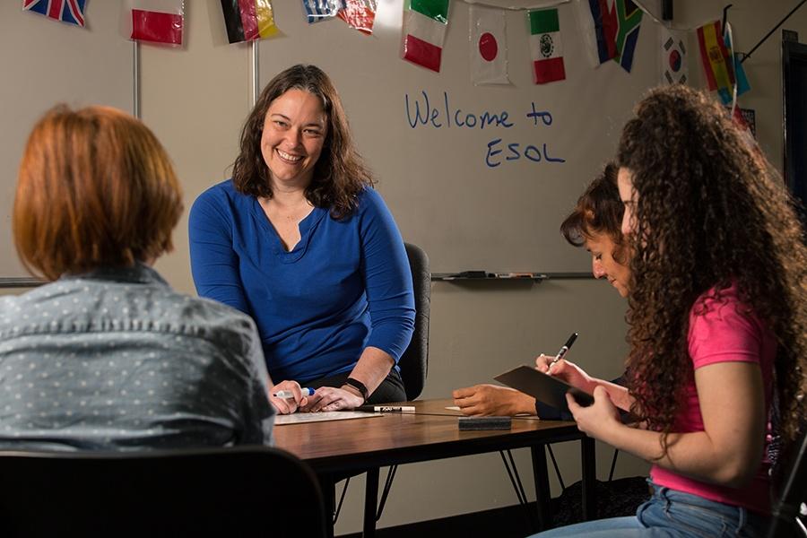 ACE ESOL Teacher Catherine Baham teaches Orientation