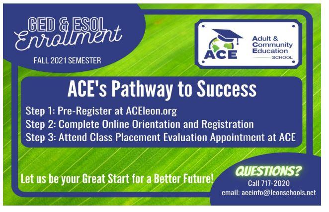 Fall 2021 ACE Enrollment Flyer